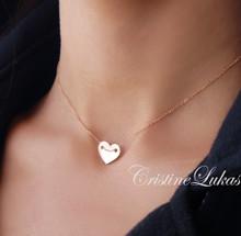 Handmade Small Heart Charm - Choose Metal