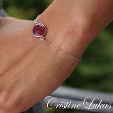 Ruby Bracelet - Silver or Gold Vermeil