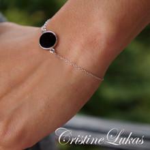 Black Onyx Bracelet - Silver or Gold Vermeil