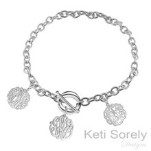 Family Initials Bracelet - Sterling Silver