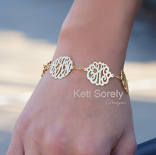Family Monogrammed Initials Bracelet - Yellow Gold