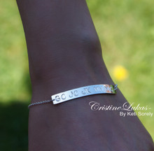 Enraved Family Initials Bar Bracelet or Anklet - Choose Your Metal