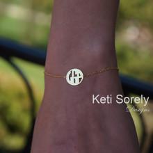 Handmade Modern Initials Bracelet - Choose Metal