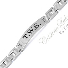 Men's Engraved Bracelet -  Stainless Steel
