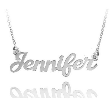 Personalized hand cut name necklace jennifer style choose your image 1 aloadofball Gallery
