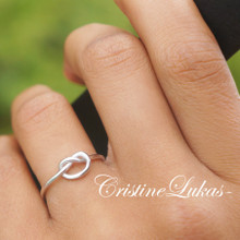 Love Knot Infinity Ring - Sterling Silver, Rose Gold or Yellow Gold