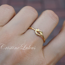 30% OFF - Love Knot Infinity Ring - Sterling Silver, Rose Gold or Yellow Gold