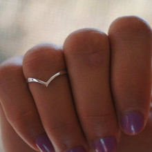 30% OFF - Dainty Chevron Midi Ring - Sterling Silver, Yellow or Rose Gold Overlay