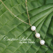 Fresh Water White Pearl bead Necklace -  Choose Your Metal