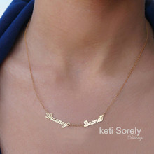 Family or Couples Name Necklace - Personalize It with Names - Choose Metal
