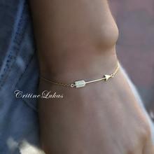 Sideways Arrow Bracelet  in Sterling Silver or Solid Gold