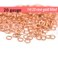 20g 14K Rose Gold Fill Jump Rings