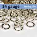 14g Sterling Silver Jump Rings