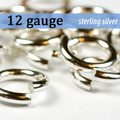 12g Sterling Silver Jump Rings