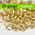 20g NuGold Brass Jump Rings