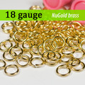 18g NuGold Brass Jump Rings