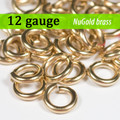 12g NuGold Brass Jump Rings