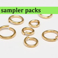 NuGold Brass Jump Ring Sampler Packs