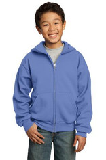 Port & Company® - Youth Full-Zip Hooded Sweatshirt.