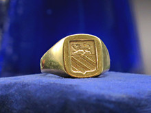 14 Karat Yellow Gold Tiffany Lion's Crest Signet Ring