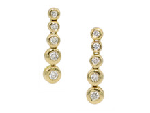 14 Karat Yellow Gold Graduated Diamond Dangle Earrings