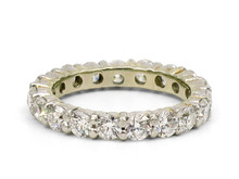 18 Karat White Gold 2 Carat Total Weight Diamond Eternity Band
