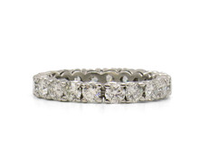 14 Karat White Gold 2.90 Carat Total Weight Diamond Eternity Band
