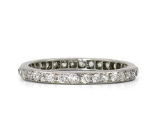 Black, Starr, & Frost Platinum and Diamond Eternity Band