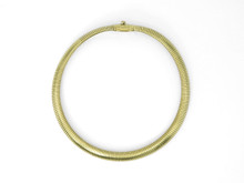 14 Karat Yellow Gold Gas Pipe Necklace