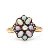 Victorian Opal and Seed Pearl Ring