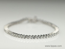 14 Karat White Gold Diamond Tennis Bracelet