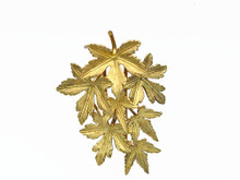 18 Karat Yellow Gold Maple Leaf Brooch