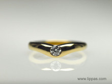 18 Karat Yellow Gold Tiffany & Co. Solitare Diamond Ring