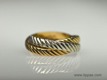 18 Karat White, Yellow and Rose Gold Rolling Ring