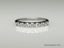 Platinum Seven Diamond Prong Set Wedding Band