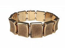 Tiffany & Co. 14 Karat Gold Rectangular Link Bracelet