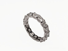 Custom Made Radiant Cut Diamond Eternity Band