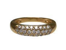 14 Karat Yellow Gold Pavé Diamond Band