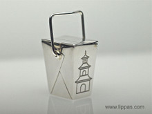 Silver Tiffany Chinese Take Out Pill Box