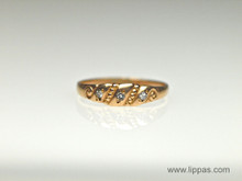 14 Karat Rose Gold Victorian Diamond Band