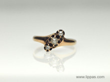 14 Karat Yellow Gold Victorian and Seed Pearl Ring