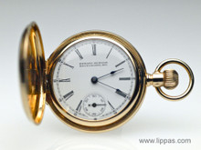 14 Karat Yellow Gold Edward Kuenne Mid Size Pocket Watch