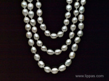 64 Inch Knotted Continuous Strand of Freshwater Pearls