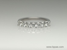 Custom Seven Cushion Cut Diamond Band