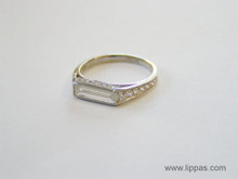 Platinum Custom Made Baguette Diamond Ring