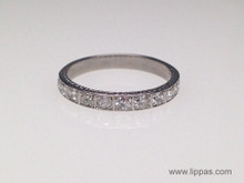 Platinum Diamond Vintage Wedding Band