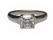 Tiffany and Co. Platinum Lucida Cut Diamond Solitare Ring.