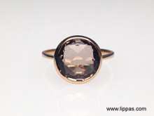 14 Karat Yellow Gold Smokey Quartz Ring