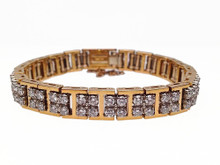 18 Karat Yellow and White Gold Diamond Bracelet by Jabel