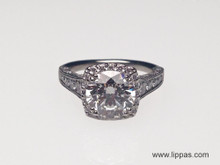 Platinum Custom Designed Diamond Engagement Ring